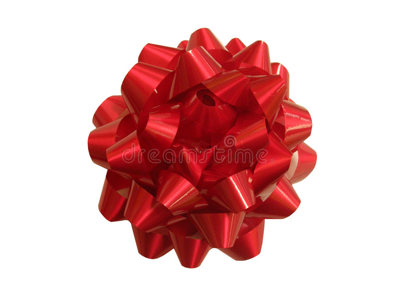 Present - red gift string royalty free stock photo
