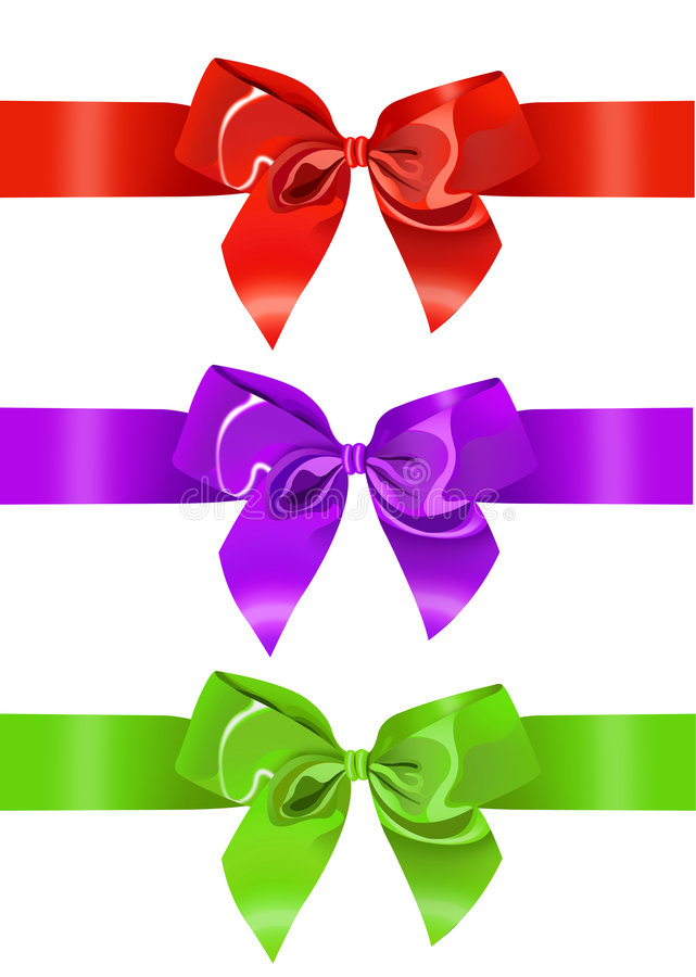 Present, ribbon, gift. Ribbon for gift/ colorful girl bow royalty free illustration
