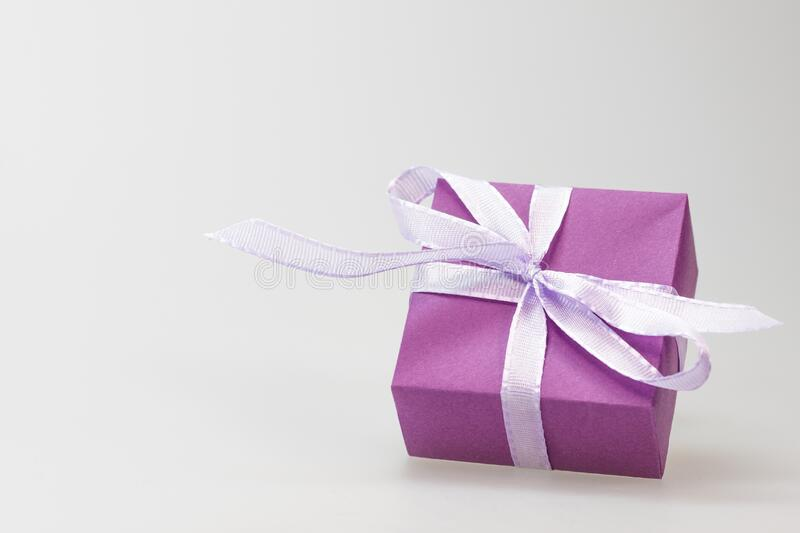 Present Wrapped In Purple With Ribbon Free Public Domain Cc0 Image