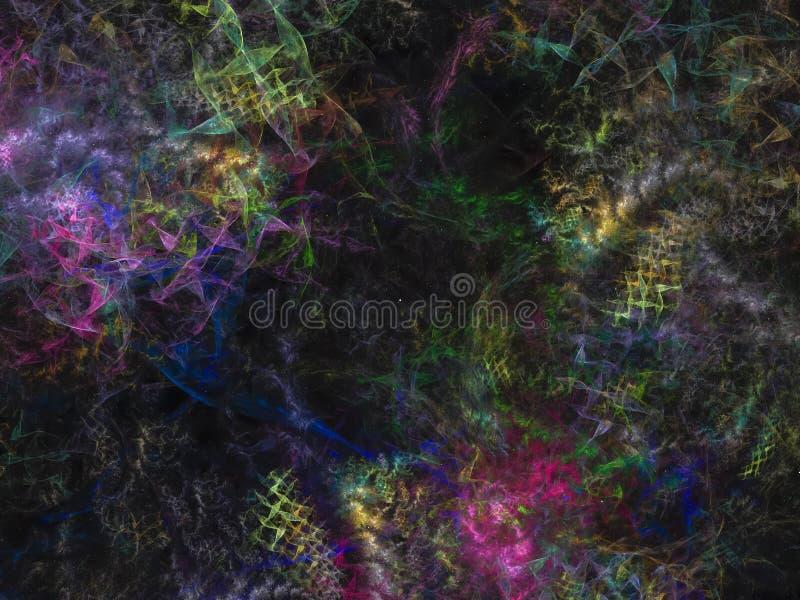 Presentación aguda visual elegante, magia del diseño de la plantilla del giro del cartel complejo abstracto del fractal ilustración del vector
