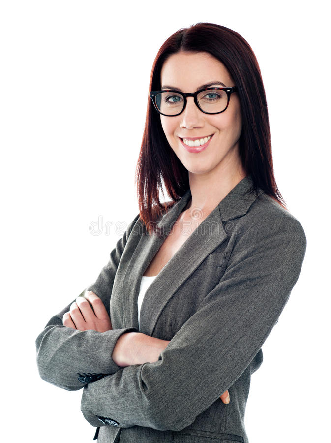 Presentación corporativa acertada de la señora fotos de archivo