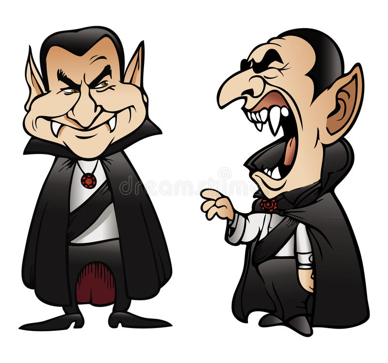 Presentación de Dracula stock de ilustración