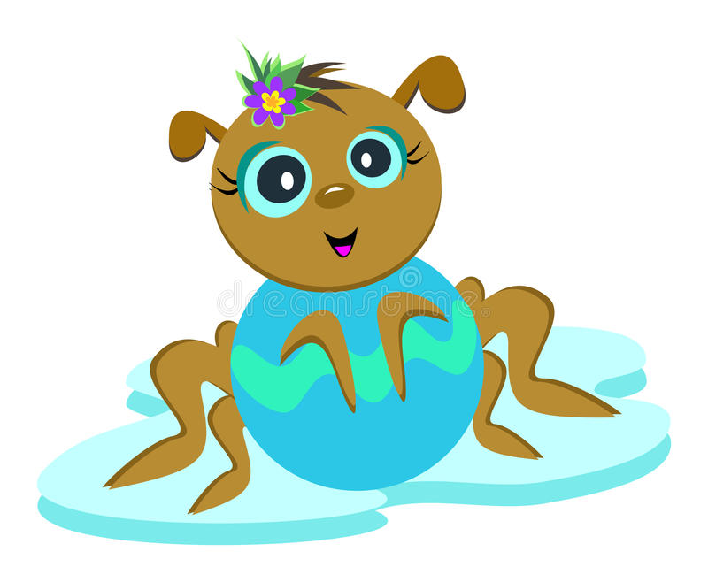 Presentación de la araña del bebé libre illustration