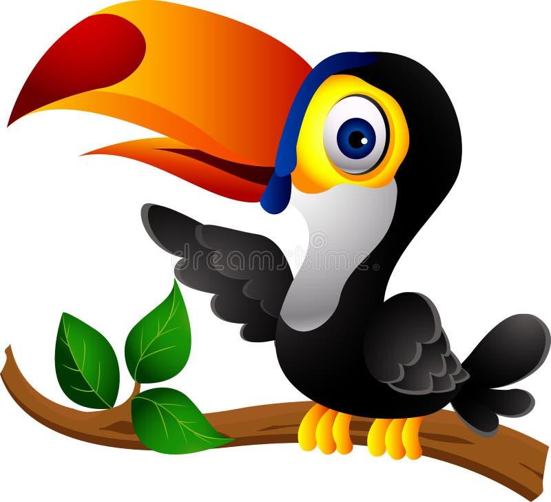 Presentación de la historieta del pájaro de Toucan stock de ilustración