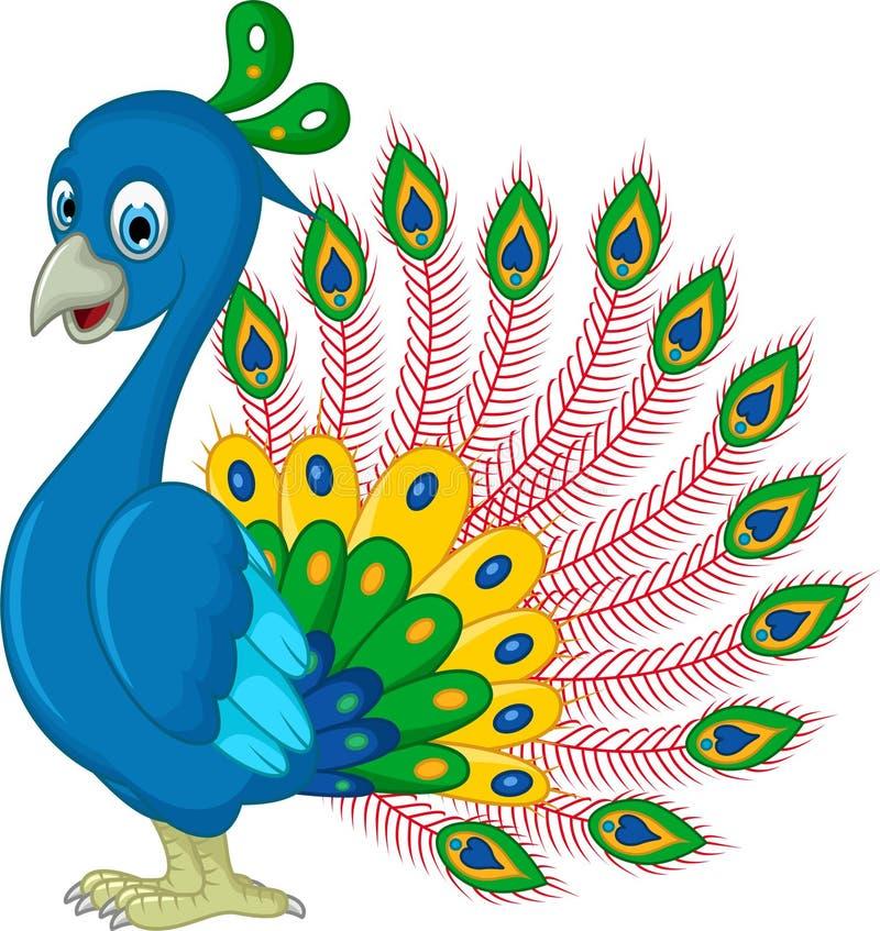 Presentación de la historieta del pavo real libre illustration