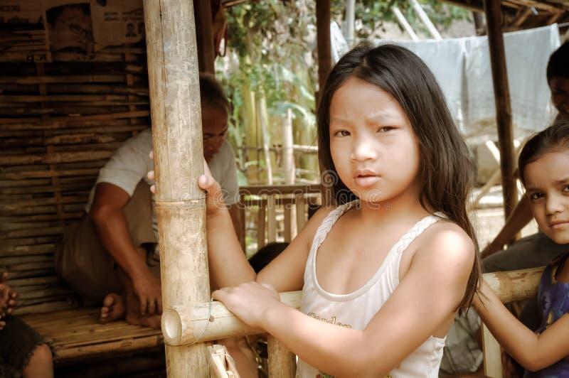 Presentación de la muchacha en Nepal fotografía de archivo libre de regalías