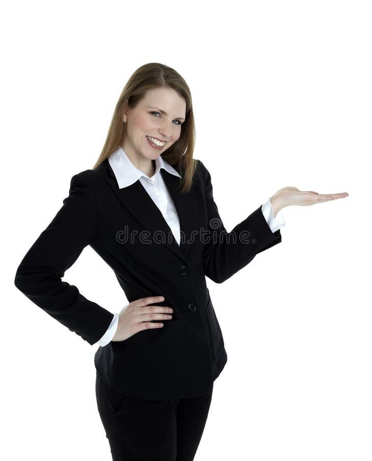 Presentación de la mujer de negocios foto de archivo