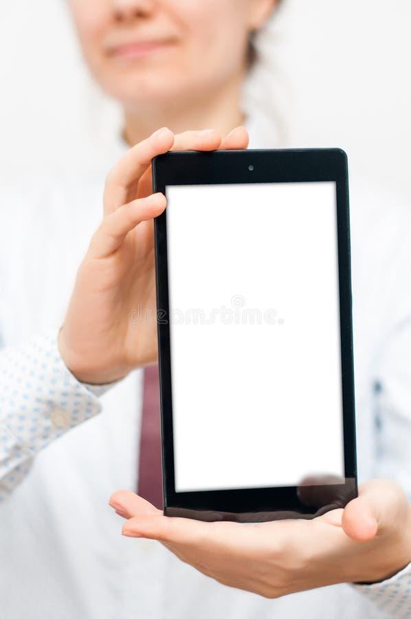 Presentación de la tableta fotografía de archivo libre de regalías