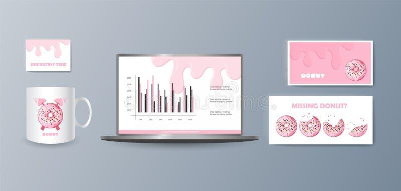 Presentación de los artículos elegantes de moda de una colección para de comercialización los bienes y servicios de la promoción  foto de archivo