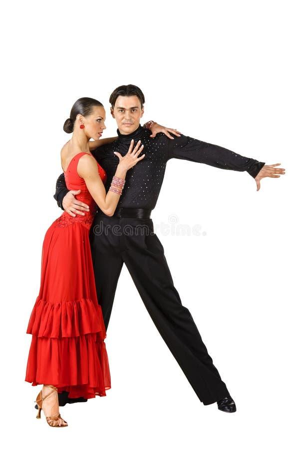 Presentación de los bailarines del Latino fotos de archivo