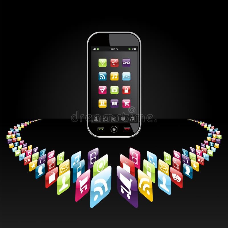 Presentación de los iconos de los apps de Smartphone libre illustration