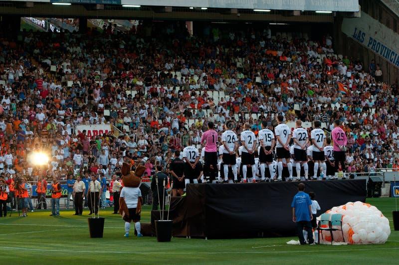 Presentación de Oficial del equipo de fútbol de Valencia imágenes de archivo libres de regalías