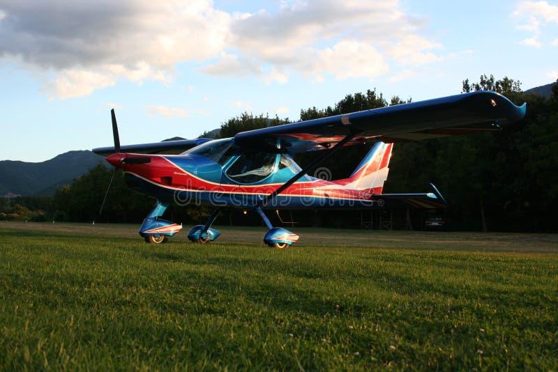 Presentación del aeroplano foto de archivo libre de regalías