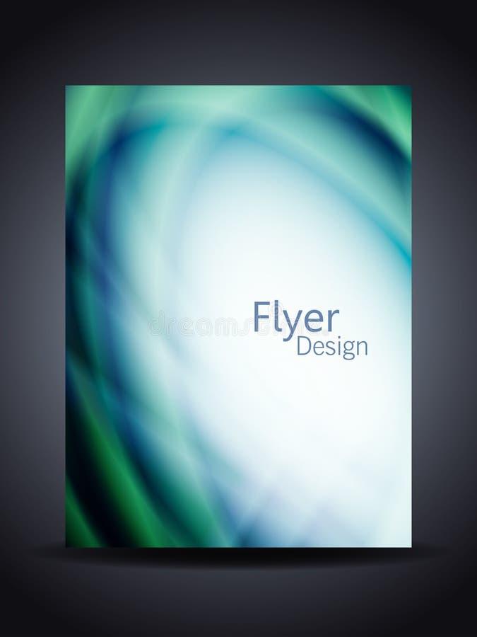 Presentación del aviador o de la cubierta corporativo creativo ilustración del vector