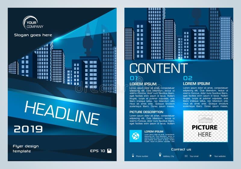 Presentación del aviador del vector, del negocio corporativo, del informe anual, del diseño del folleto y de la cubierta con el t libre illustration