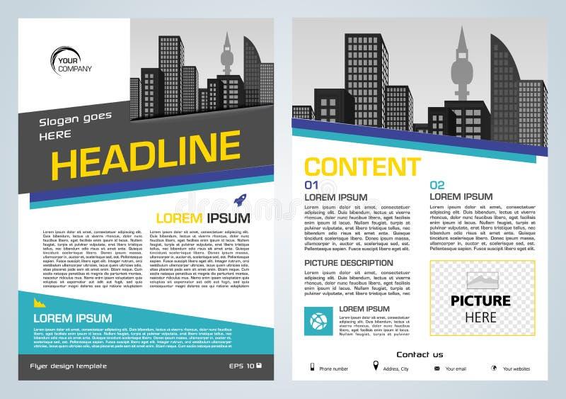 Presentación del aviador del vector, del negocio corporativo, del informe anual, del diseño del folleto y de la cubierta con rect libre illustration