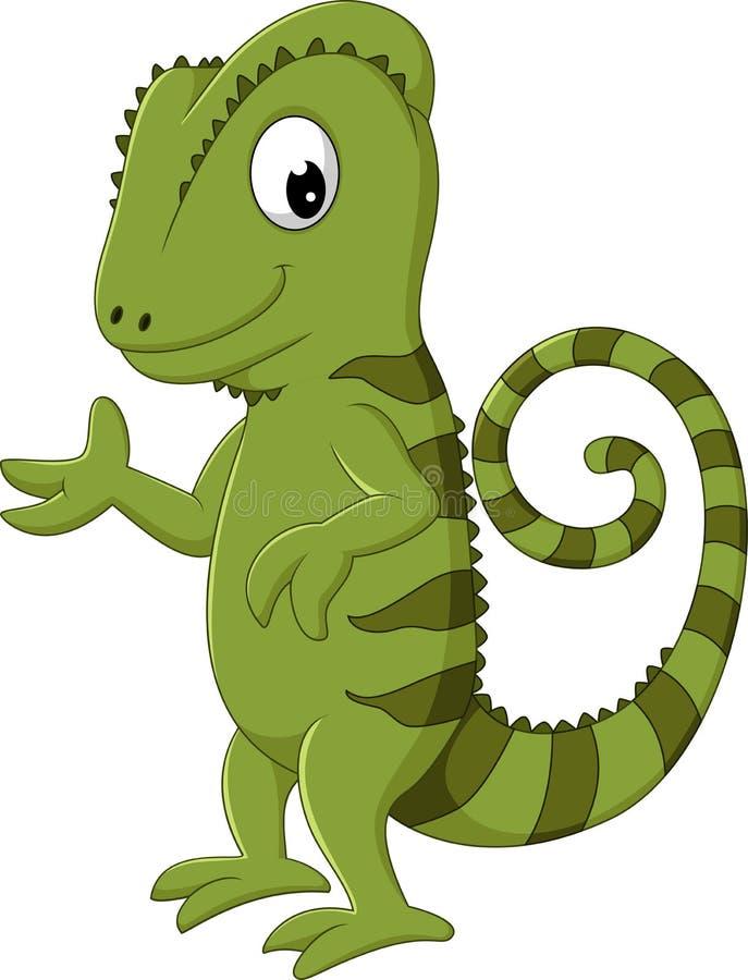 Presentación del camaleón de la historieta libre illustration