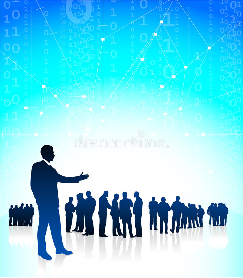 Presentación del CEO del hombre de negocios stock de ilustración