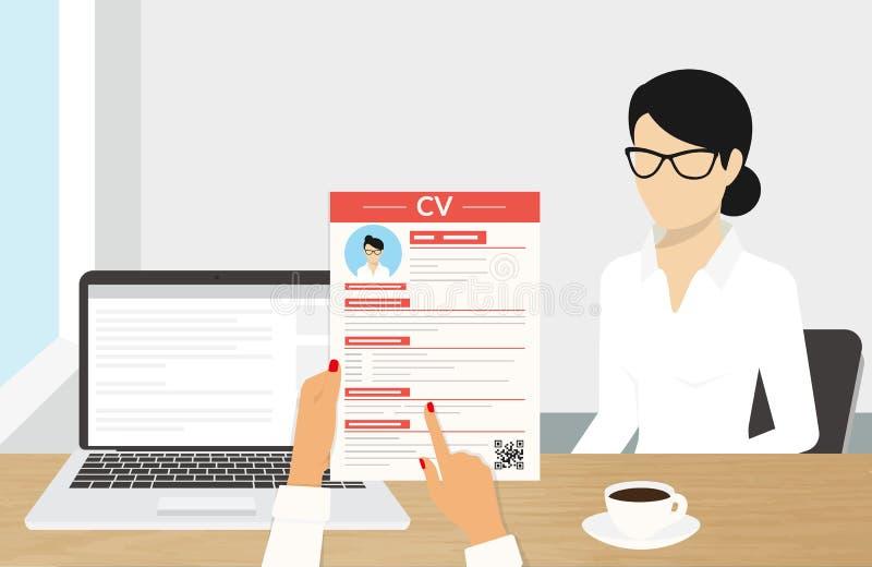 Presentación del CV stock de ilustración