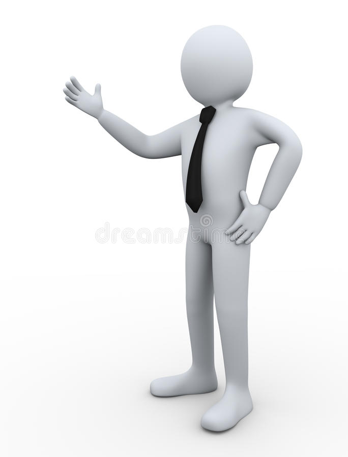 presentación del hombre de negocios 3d libre illustration