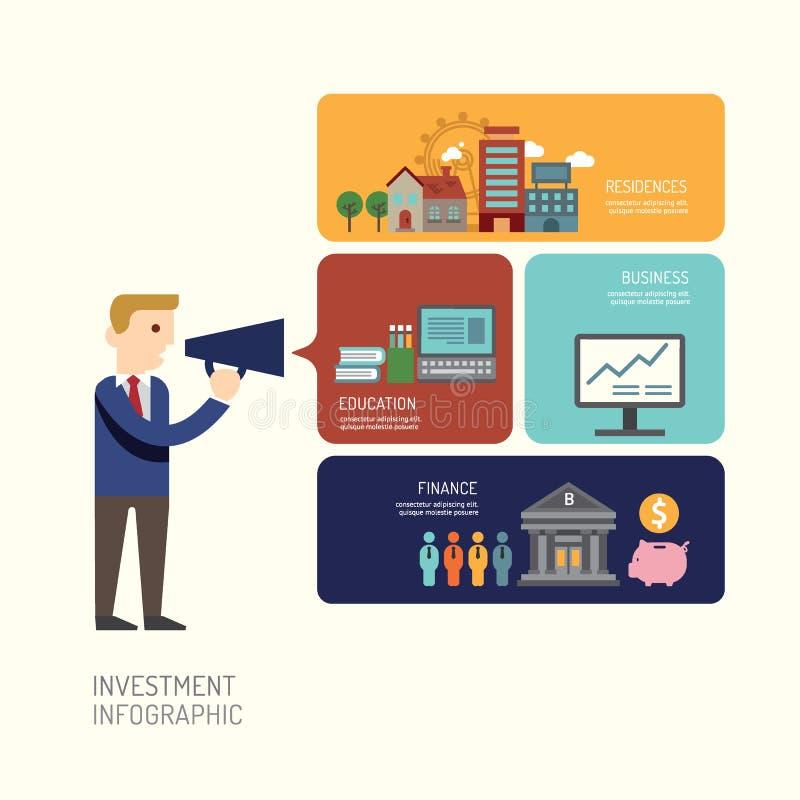 Presentación del hombre de negocios diseño de Infographic del ejemplo del vector libre illustration