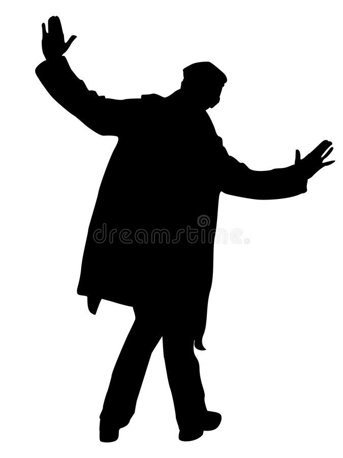 Presentación del hombre joven stock de ilustración