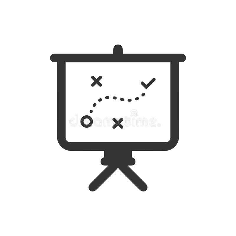 Presentación del icono del planeamiento estratégico ilustración del vector