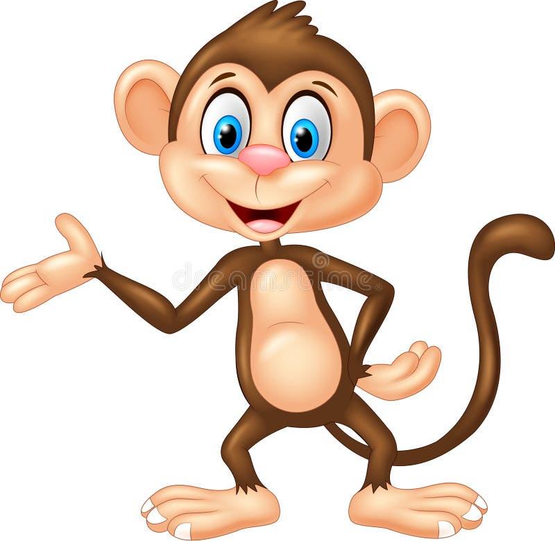 Presentación del mono de la historieta libre illustration