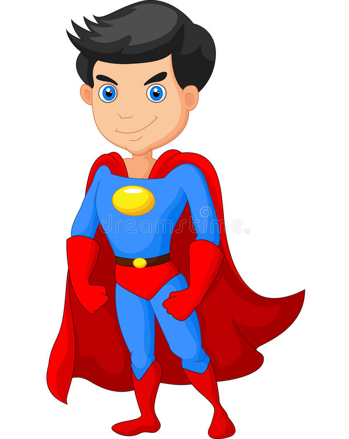 Presentación del muchacho del superhéroe de la historieta libre illustration
