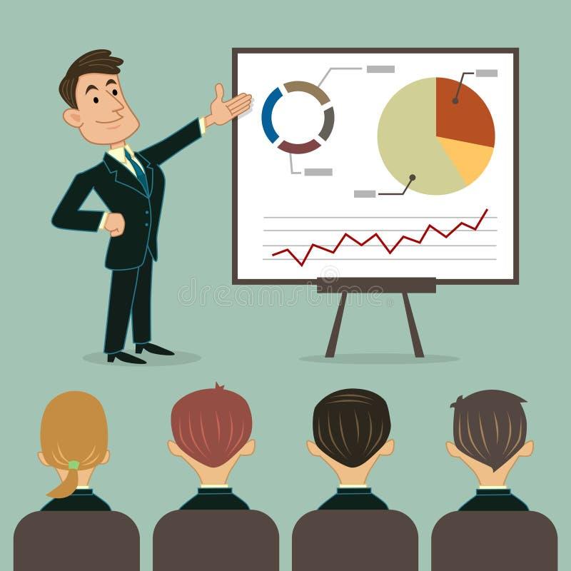 Presentación del negocio a la audiencia libre illustration