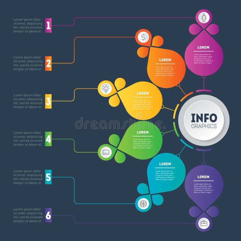 Presentación del negocio o plantilla infographic Educación, techno ilustración del vector