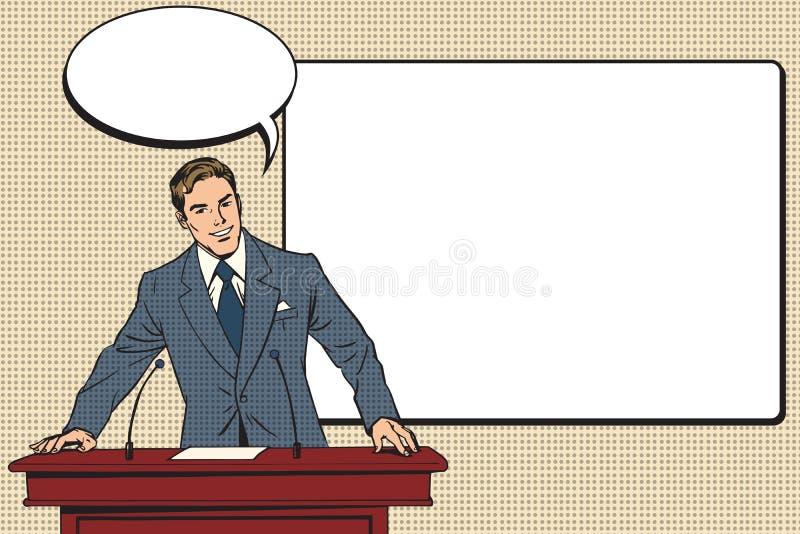 Presentación del negocio, una conferencia científica ilustración del vector