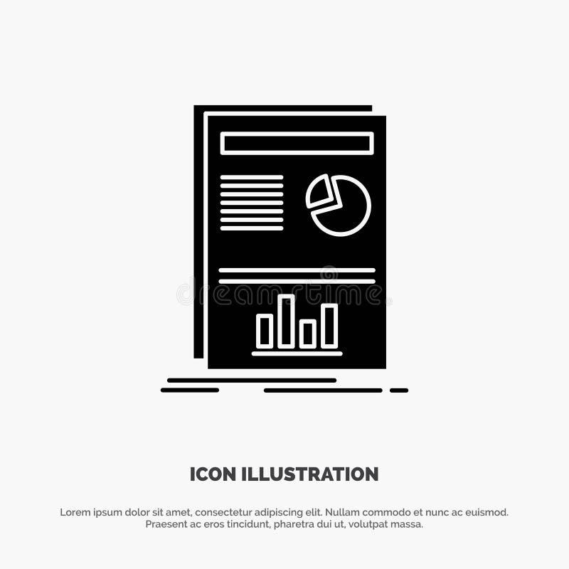 Presentación, disposición, gráfico, vector sólido del icono del Glyph del éxito ilustración del vector