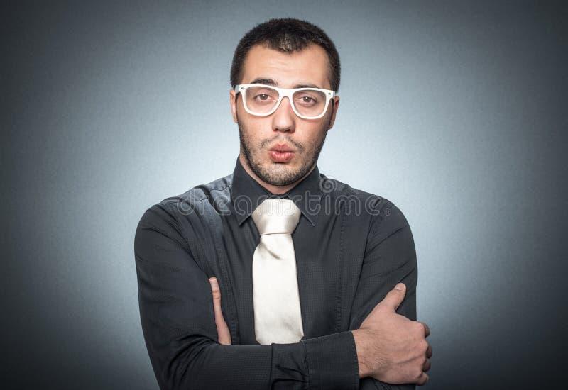 Presentación elegante del hombre de negocios fotos de archivo