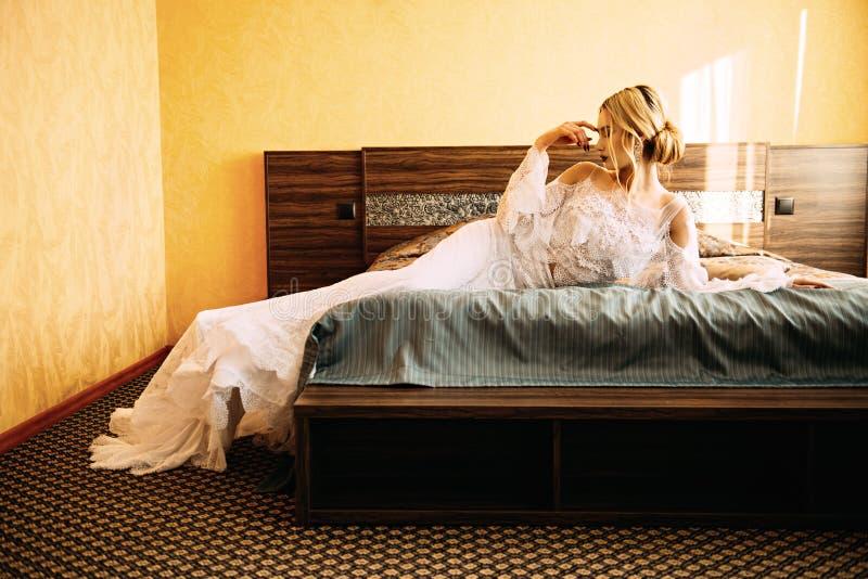 Presentación en dormitorio fotografía de archivo libre de regalías