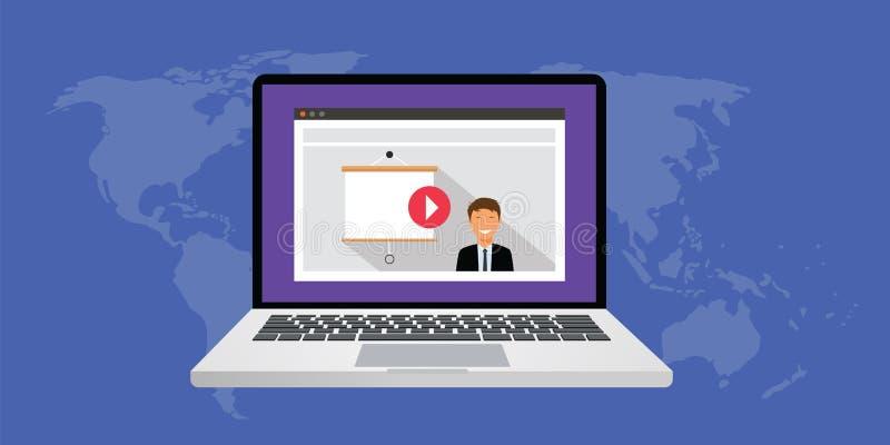 Presentación en línea ilustración del vector