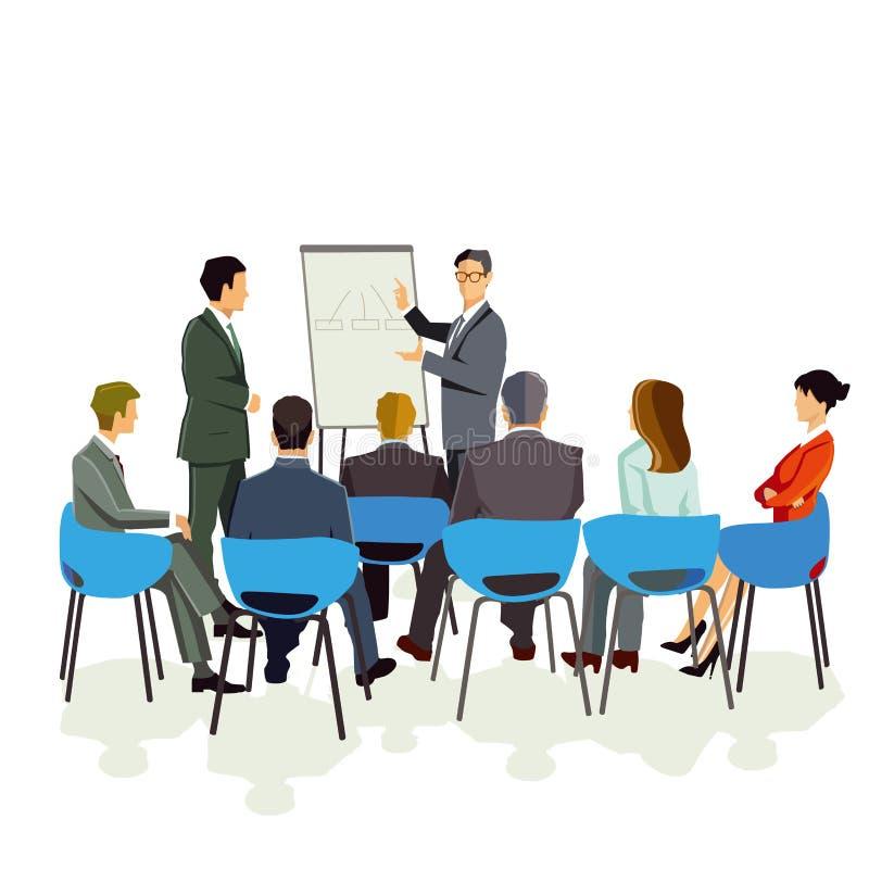 Presentación en la reunión ilustración del vector