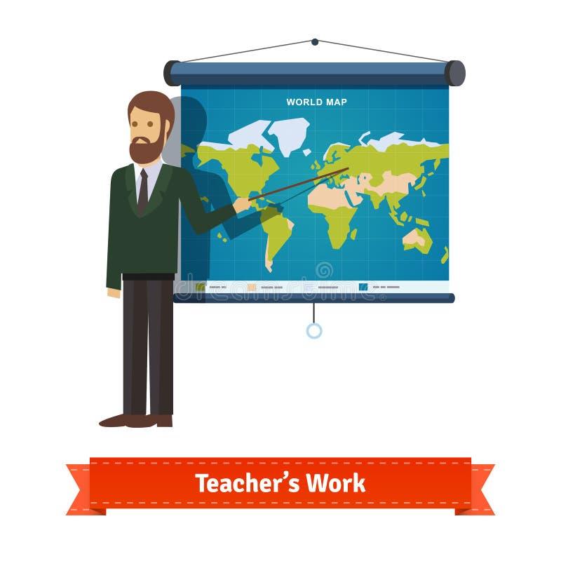 Presentación en mapa stock de ilustración