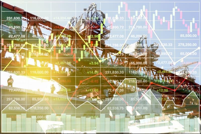 Presentación financiera de la economía de la construcción pesada stock de ilustración