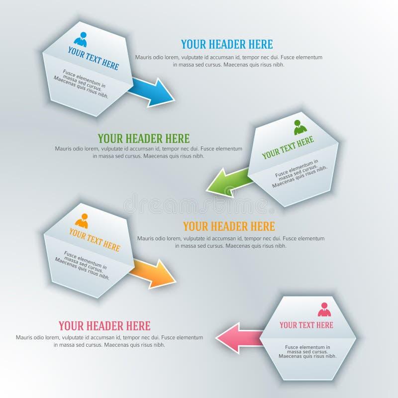 Presentación guide02 de la plantilla del elemento del diseño del encargado ilustración del vector
