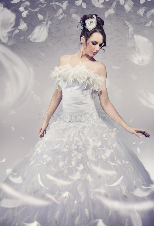 Presentación hermosa de la novia foto de archivo
