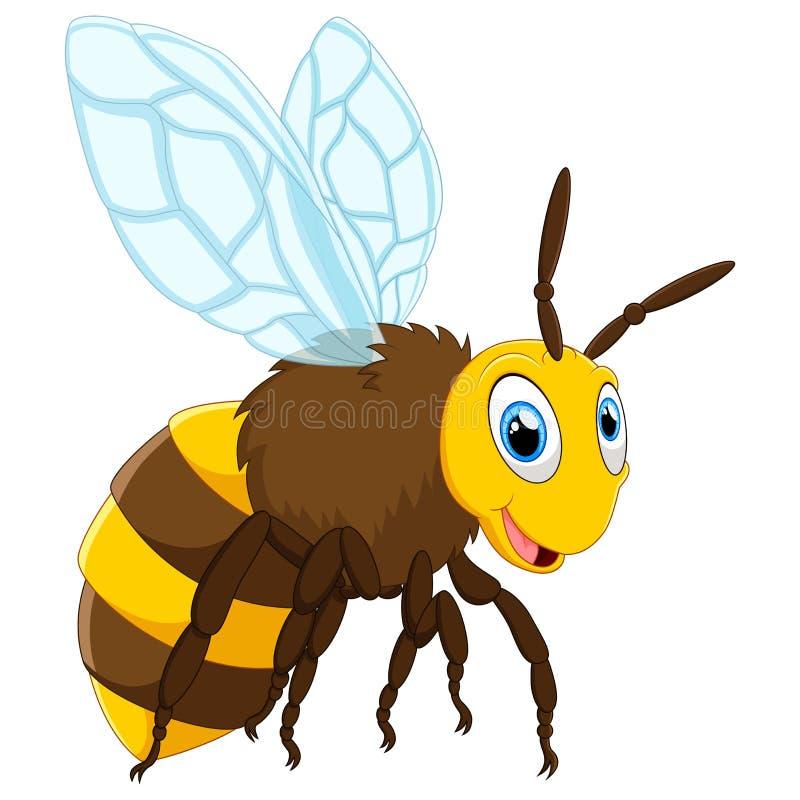 Presentación linda de la abeja stock de ilustración