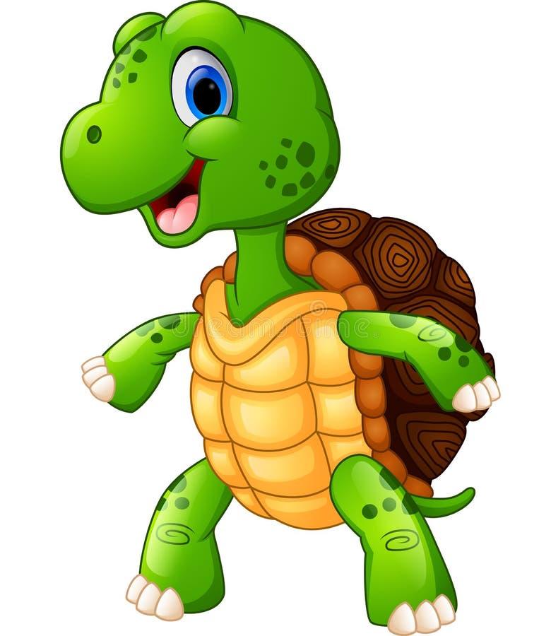 Presentación linda de la historieta de la tortuga libre illustration