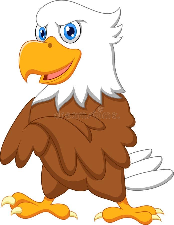 Presentación linda de la historieta del águila stock de ilustración