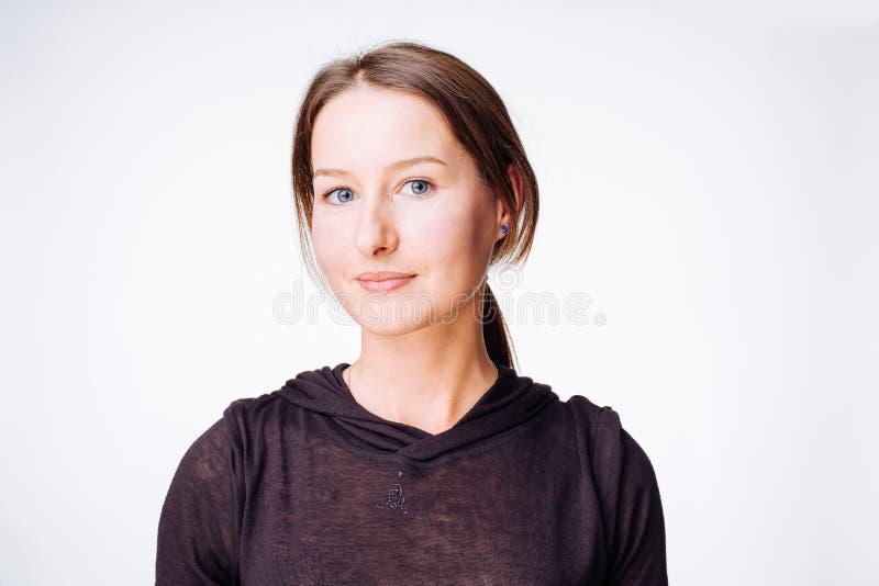 Presentación linda de la muchacha imagen de archivo libre de regalías