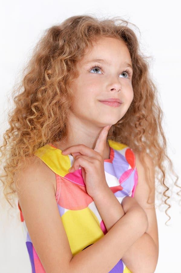 Presentación linda de la niña imagen de archivo libre de regalías