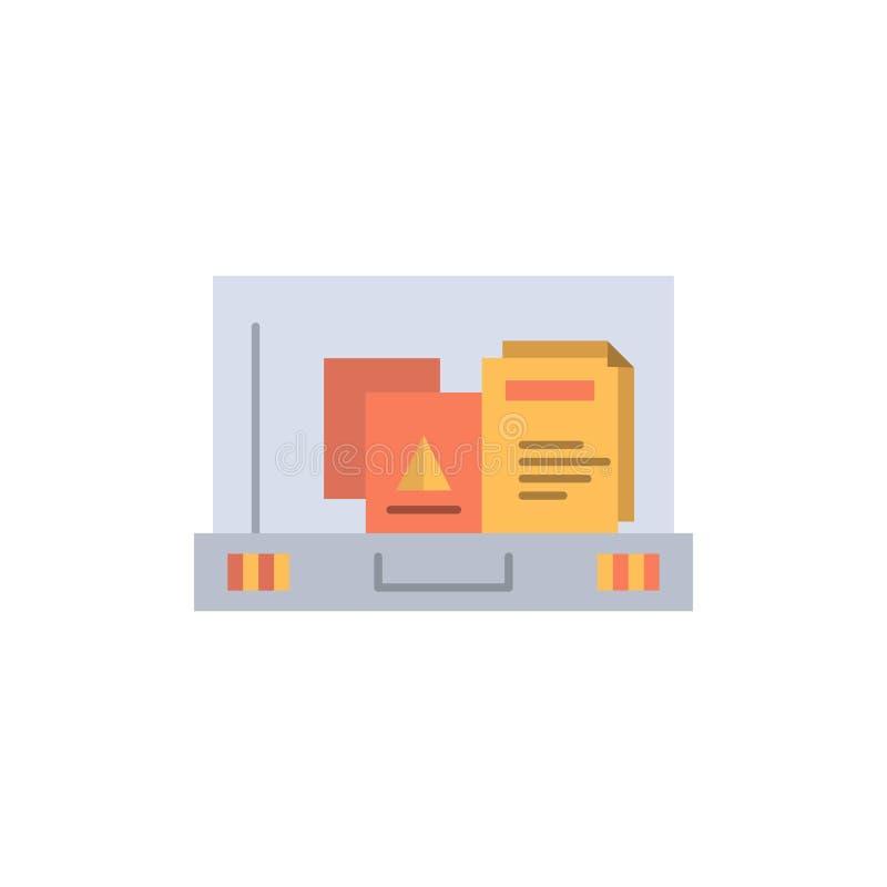 Presentación, papel, bolso, icono plano del color de la cartera Plantilla de la bandera del icono del vector ilustración del vector