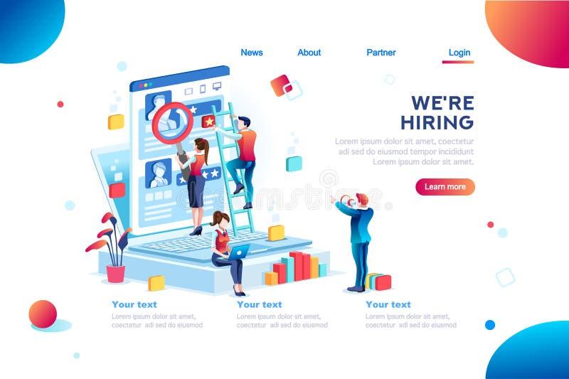 Presentación para Job Recruiting Eployment Infographic ilustración del vector