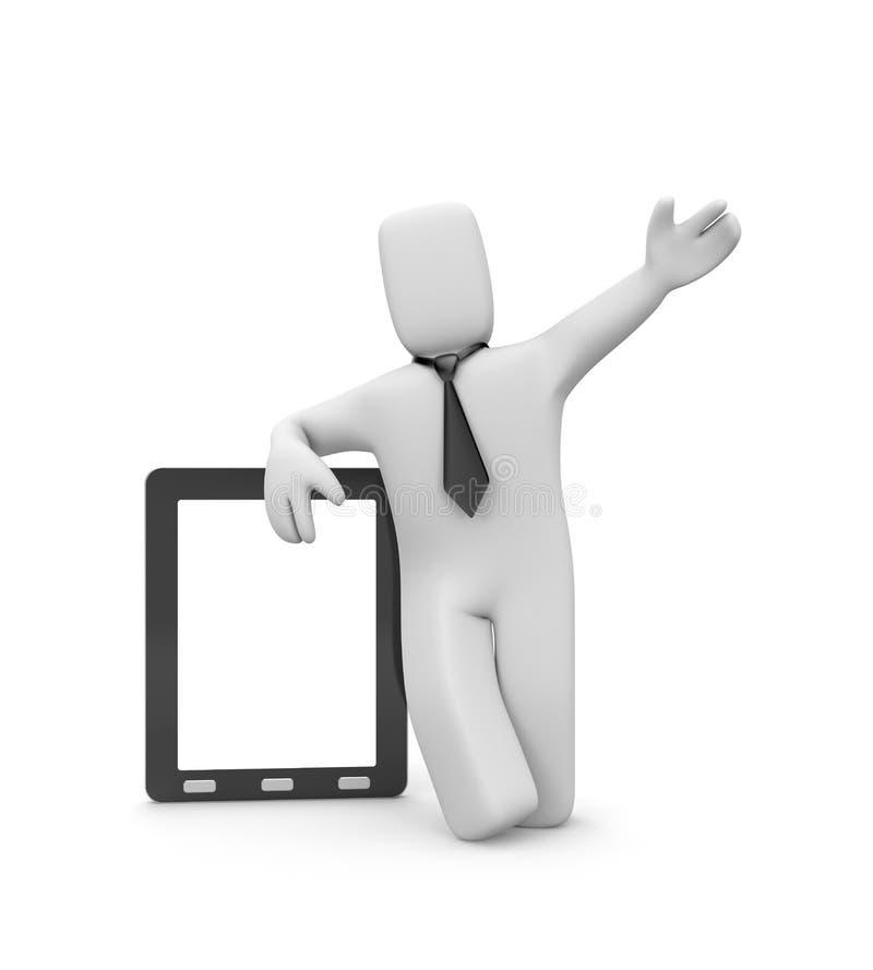 Presentación. Persona con PC de la tablilla libre illustration