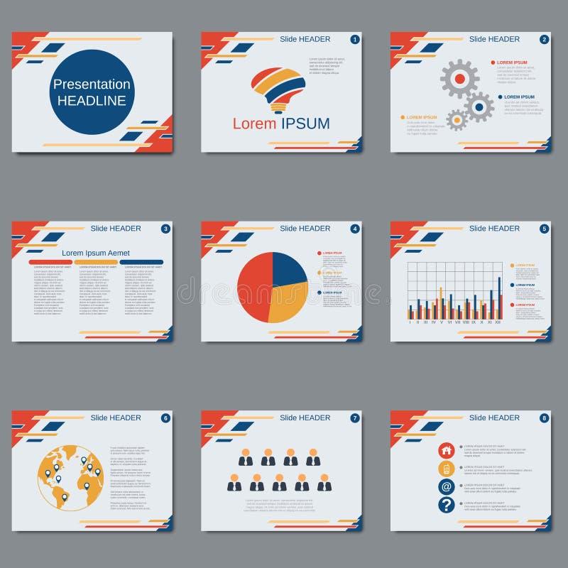 Presentación profesional del negocio, plantilla del vector de la presentación ilustración del vector
